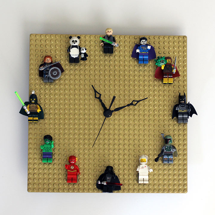 Diy Lego Clock Customizable Quick Easy Our Nerd Home