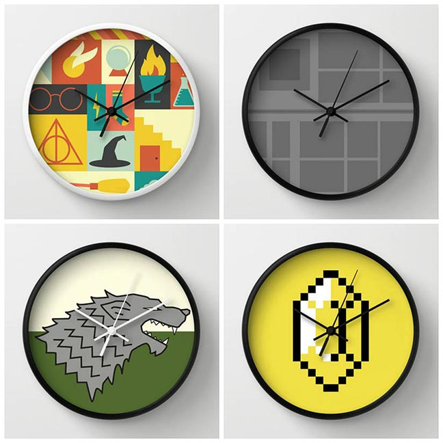 Geeky Home Decor - Geek Clocks