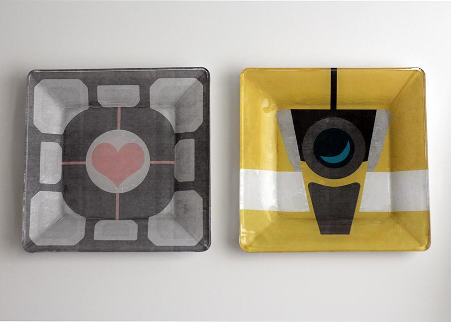 DIY Geek Dishes - Portal, Borderlands