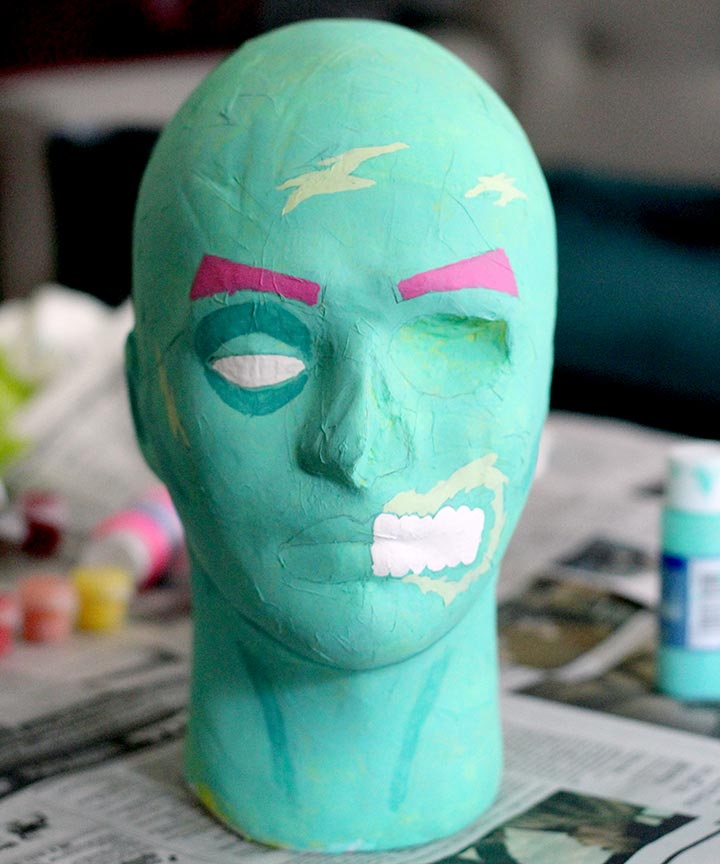 DIY Pop Art Zombie Head