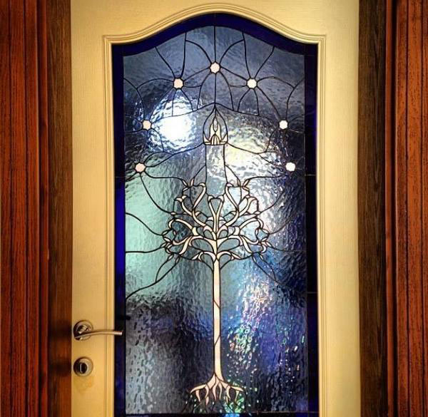 Geek Stained Glass - Lord of the Rings