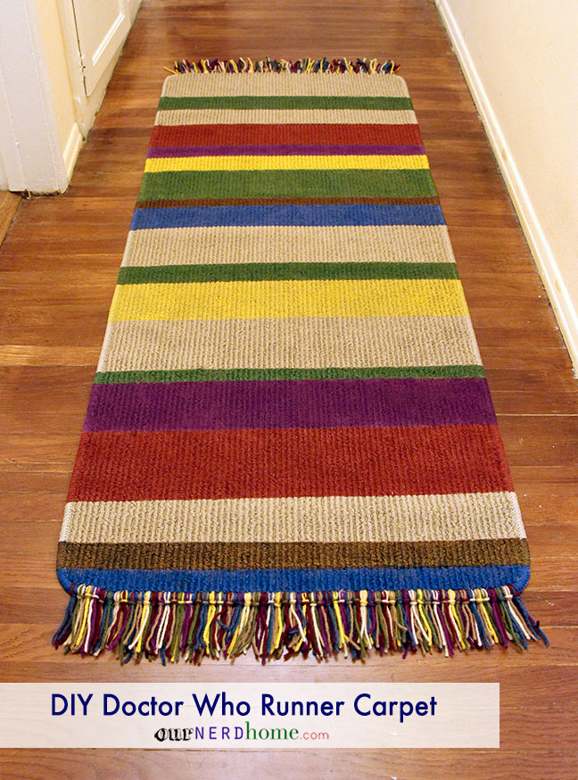 Geek Decor: DIY Doctor Who runner carpet