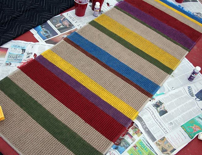 DIY Doctor Who rug