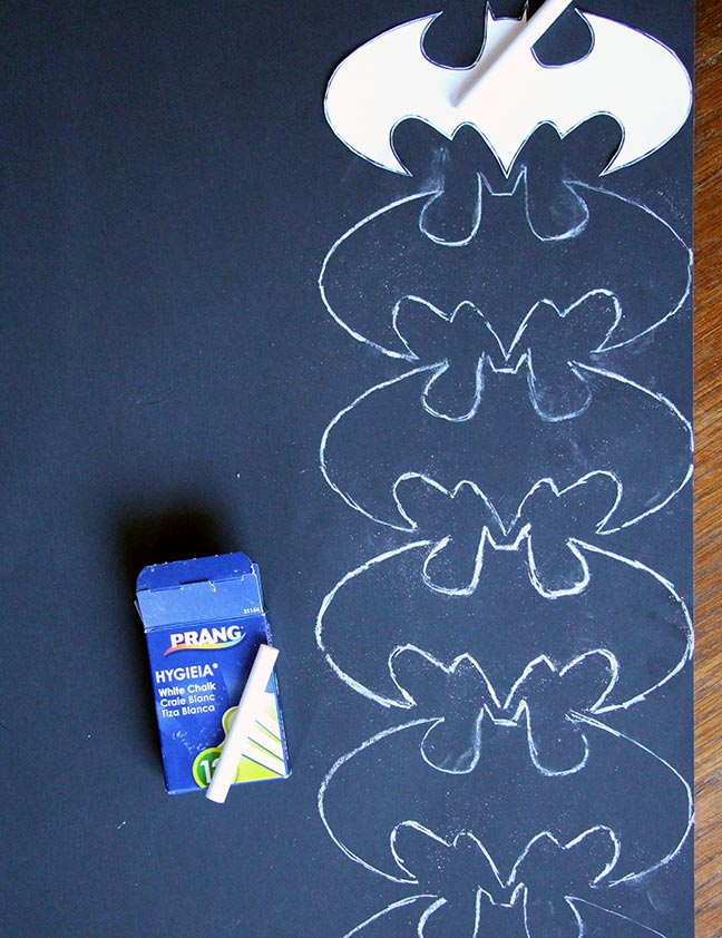 DIY Batman bunting or holiday garland