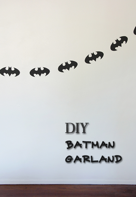 DIY Batman Garland - Geeky Holiday Decor