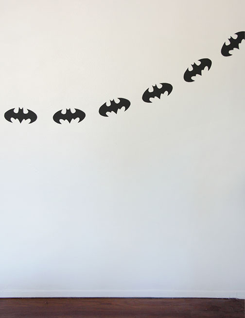 DIY Batman Garland