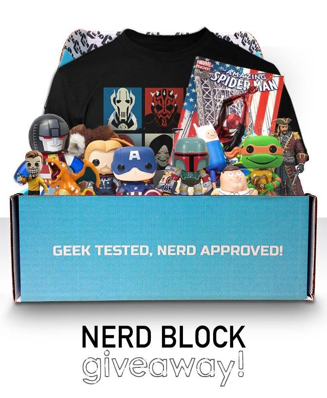 Nerd Block giveaway. Win a geek subscription box.