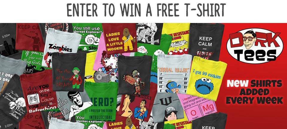 Free Geeky Shirt Giveaway