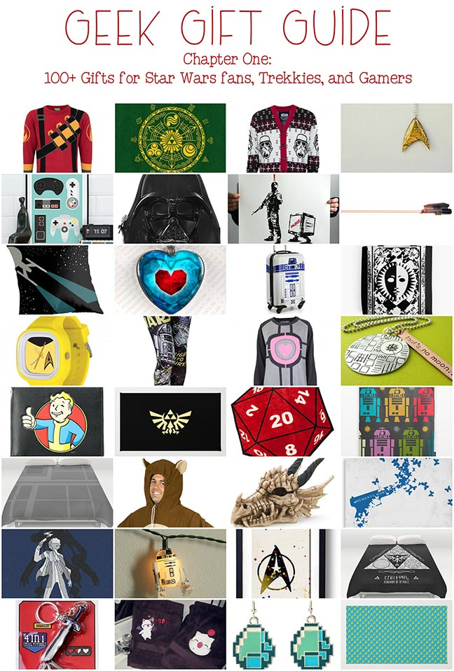 Geek Gifts: Star Wars gifts, Star Trek Gifts, Legend of Zelda gifts, gamer gifts