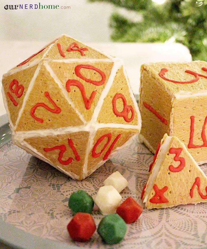 Geeky Gingerbread Houses - Gingerbread D20