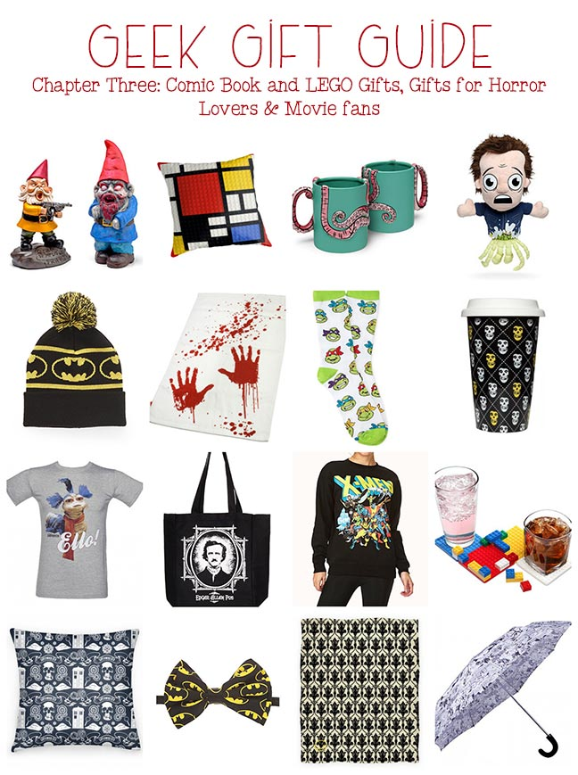 Geeky Gifts: Comic book gifts, LEGO gift ideas, more
