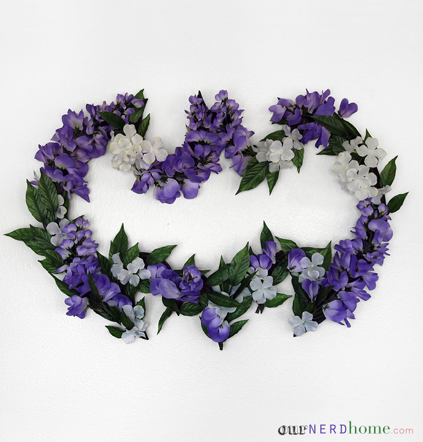 DIY Batman Wreath - Spring Edition!