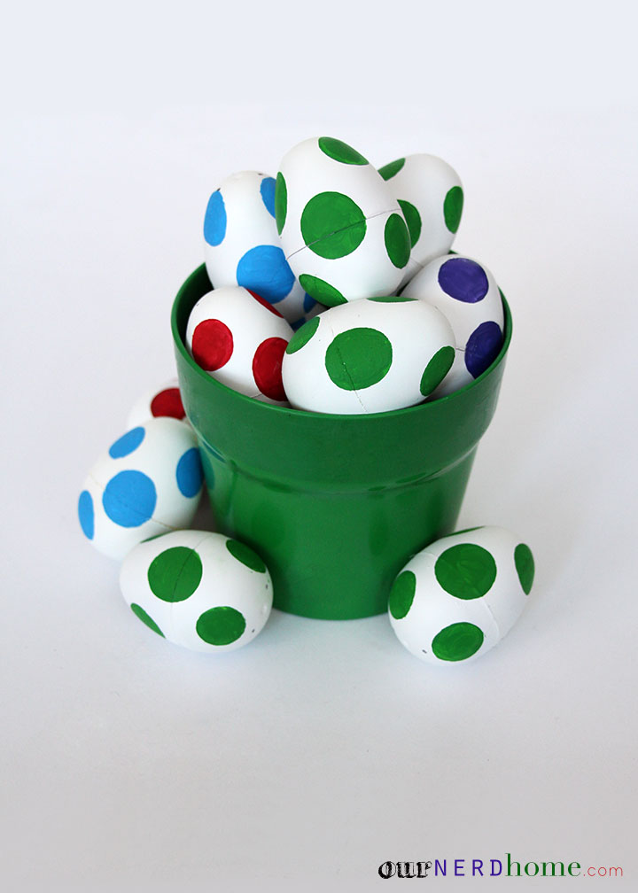 DIY Yoshi Eggs - Geeky Easter Projects