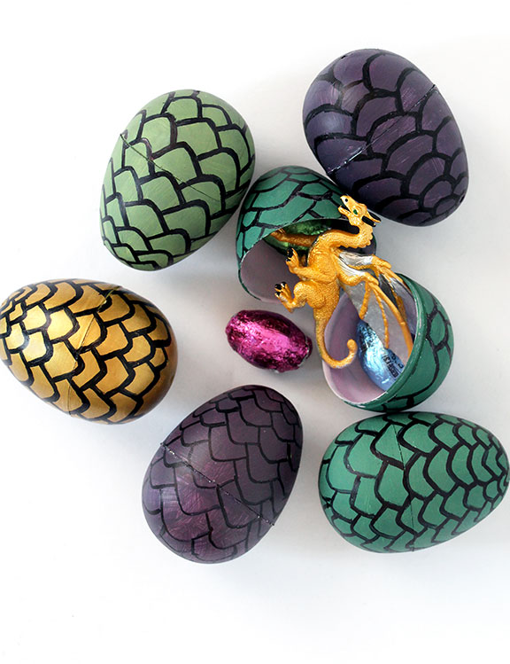 diy game of thrones dragon eggs our nerd home