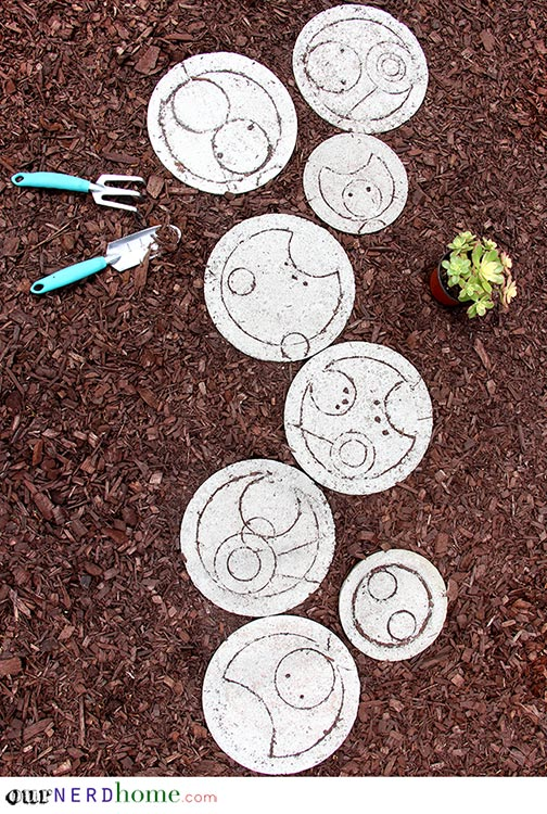 DIY Doctor Who Stepping Stones - Our Nerd Home