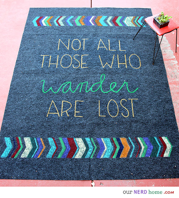 DIY Geeky Rug - Our Nerd Home