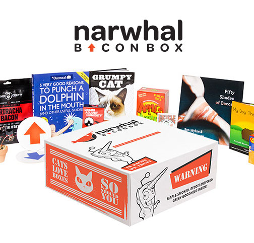 Narwhal Bacon Box monthly geek subscription box