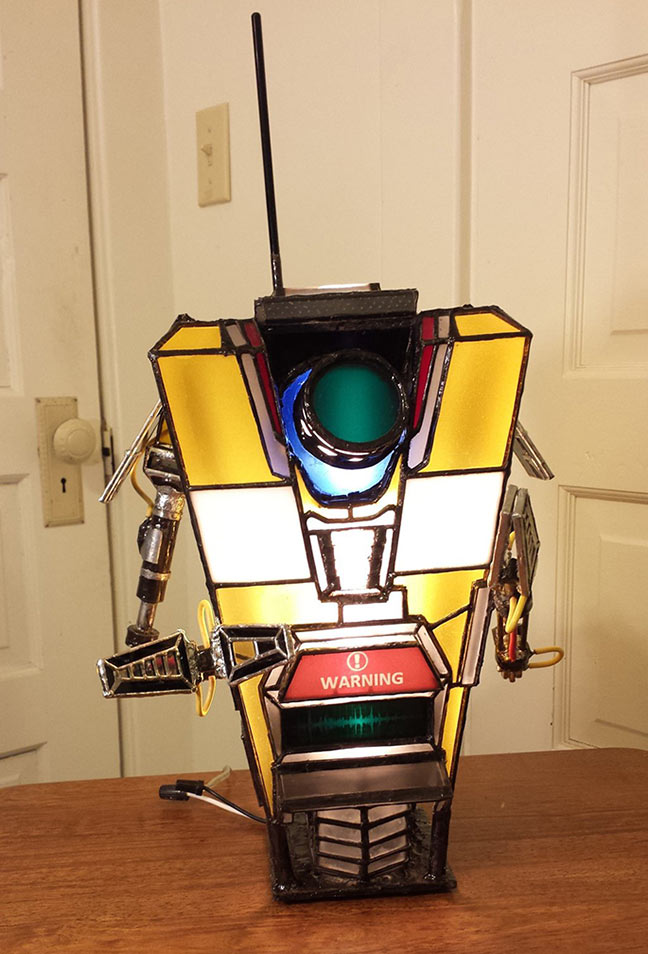 DIY Claptrap lamp by darkesolace on deviantart