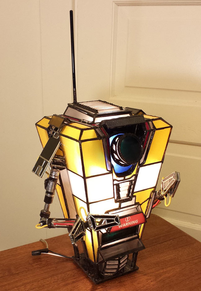 DIY Claptrap Lamp by darkesolace