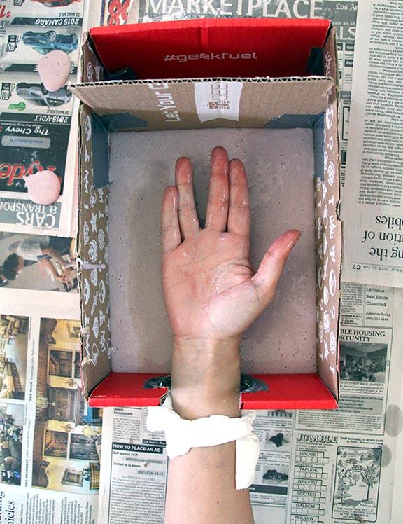 Making a DIY Star Trek hand mold
