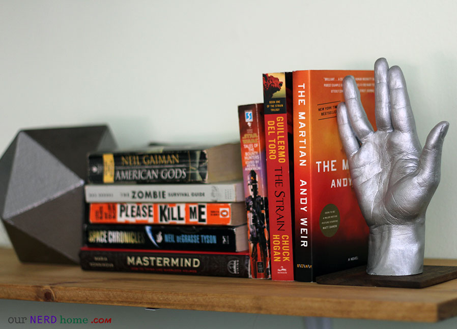 DIY Star Trek book end - LLAP hand