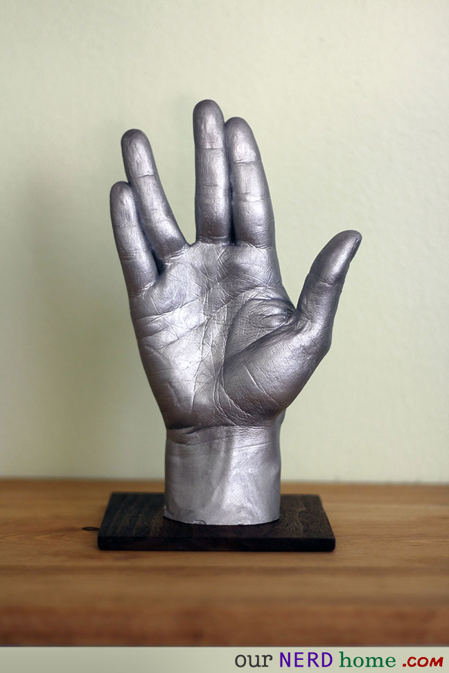 Our Nerd Home geek decor - DIY Star Trek hand