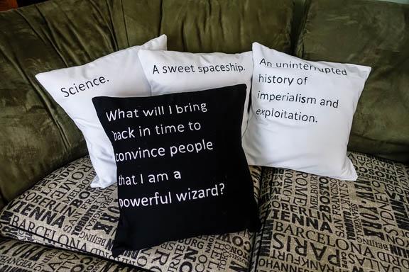 diy cards against humanity throw pillows - our nerd home Diy Sofa Pillows